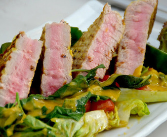 Seared Tuna Salad with Mango Vinaigrette Recipe