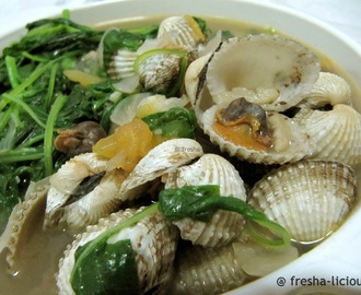 Cockles & Spinach Soup