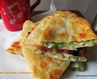Afghani Bolani/ Boulanee e Katchaloo/ Potato Spring Onion Stuffed Flatbread