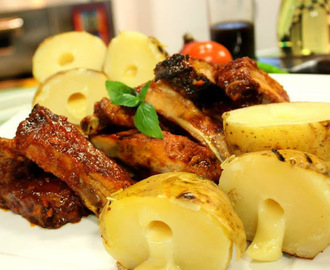 BBQ Spare Ribs with Potato Bombs Recipe