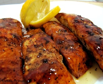 Grilled Hickory Smoked Salmon