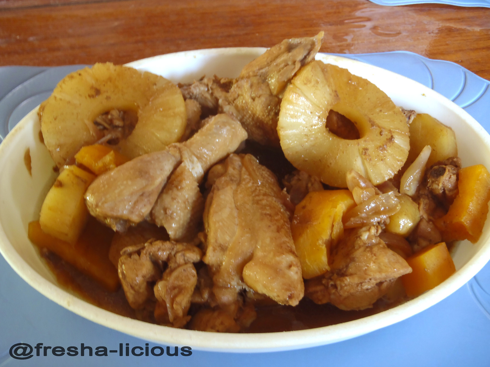 Special Chicken Adobo with Pineapple