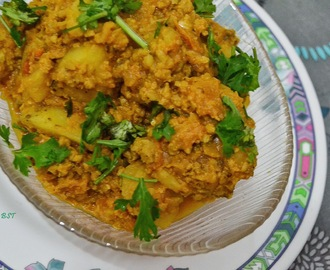 Aloo Kheema ~ Minced Meat Potato Curry