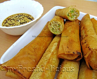 Chicken Lumpiang Shanghai (Chicken Spring Roll)