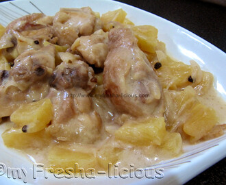 Pininyahang Manok sa Gata (Pineapple Chicken in Coconut Milk)