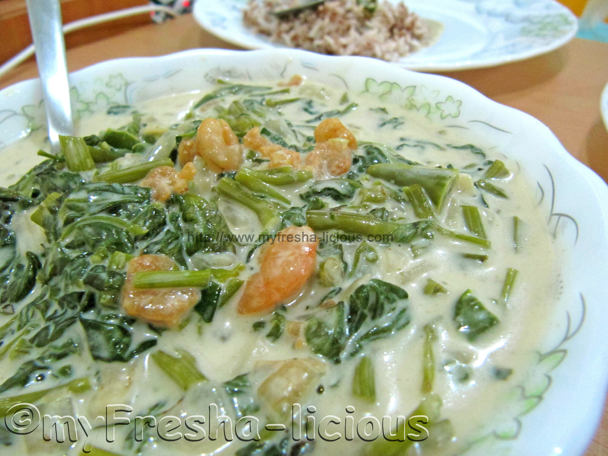 Gising Gising :  Spicy Kangkong in Coconut Milk