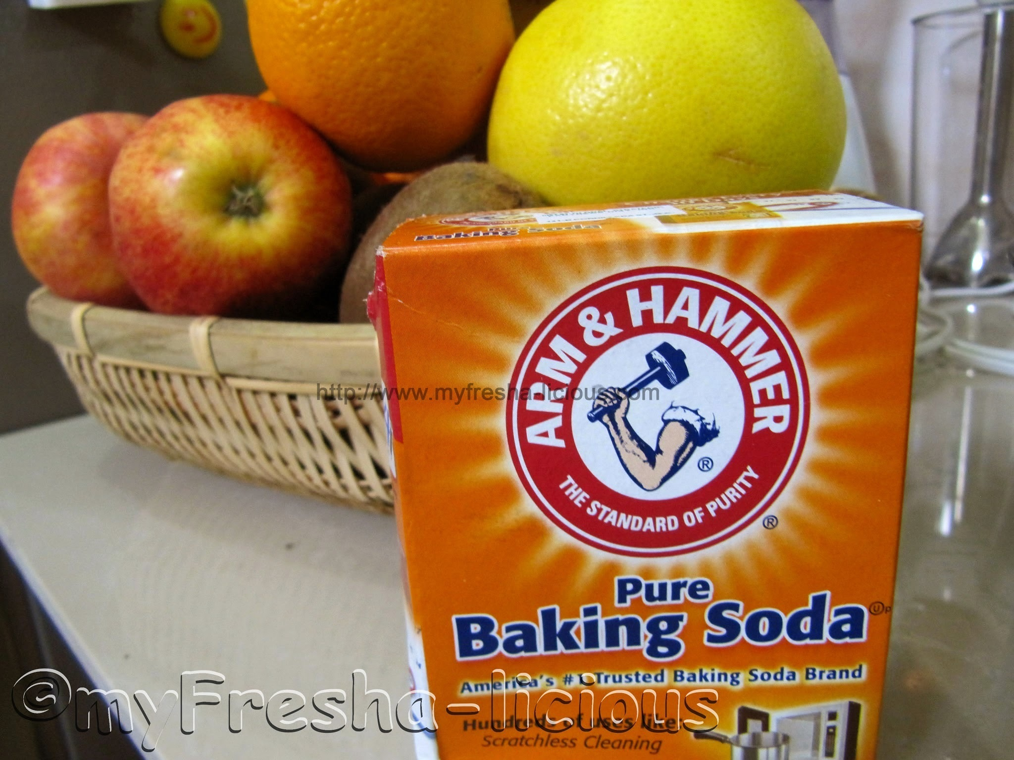 COOKING TIP:  Baking Soda for Washing Your Veggies and Fruits