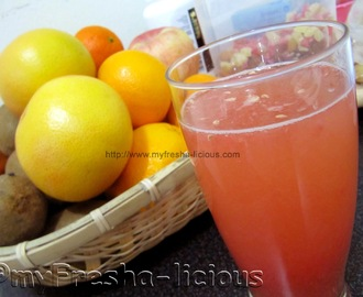 Grapefruit and Apple Cider Vinegar Juice