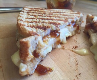 Pear & Brie Grilled Cheese with Fig Jam