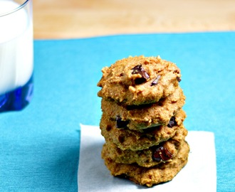 Sweet Potato Chocolate Chip Cookies | Healthy Christmas Cookies