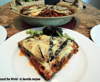 Eggplant Moussaka - low fat