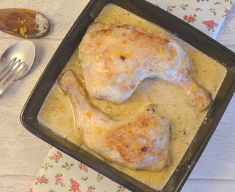 Poulet en cocotte, au whisky et à l'orange
