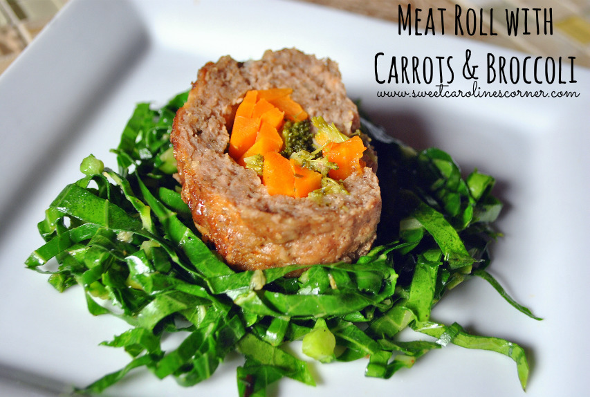 Meat Roll with Carrots & Broccoli (Rocambole de Carne com Cenouras & Brócolis)