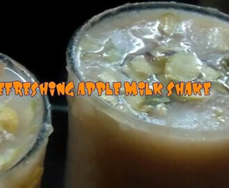 REFRESHING APPLE MILK SHAKE