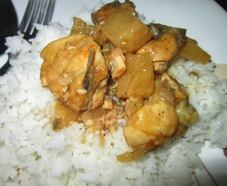 CHICKEN BRAISED in PINEAPPLE and LIME