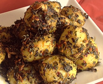 Kasuri Methi Aloo/ potatoes & fenugreek……