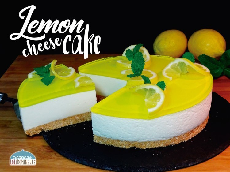 Lemon cheesecake – Tarta de queso y limón tipo mousse (SIN HORNO) – Pay de limón