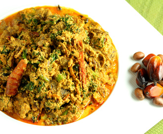 Palm Nut and Calabash Nutmeg Egusi Soup