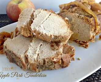 Apple Pork Tenderloin {in the crock pot}