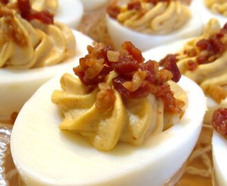 Sriracha Bacon Deviled Eggs