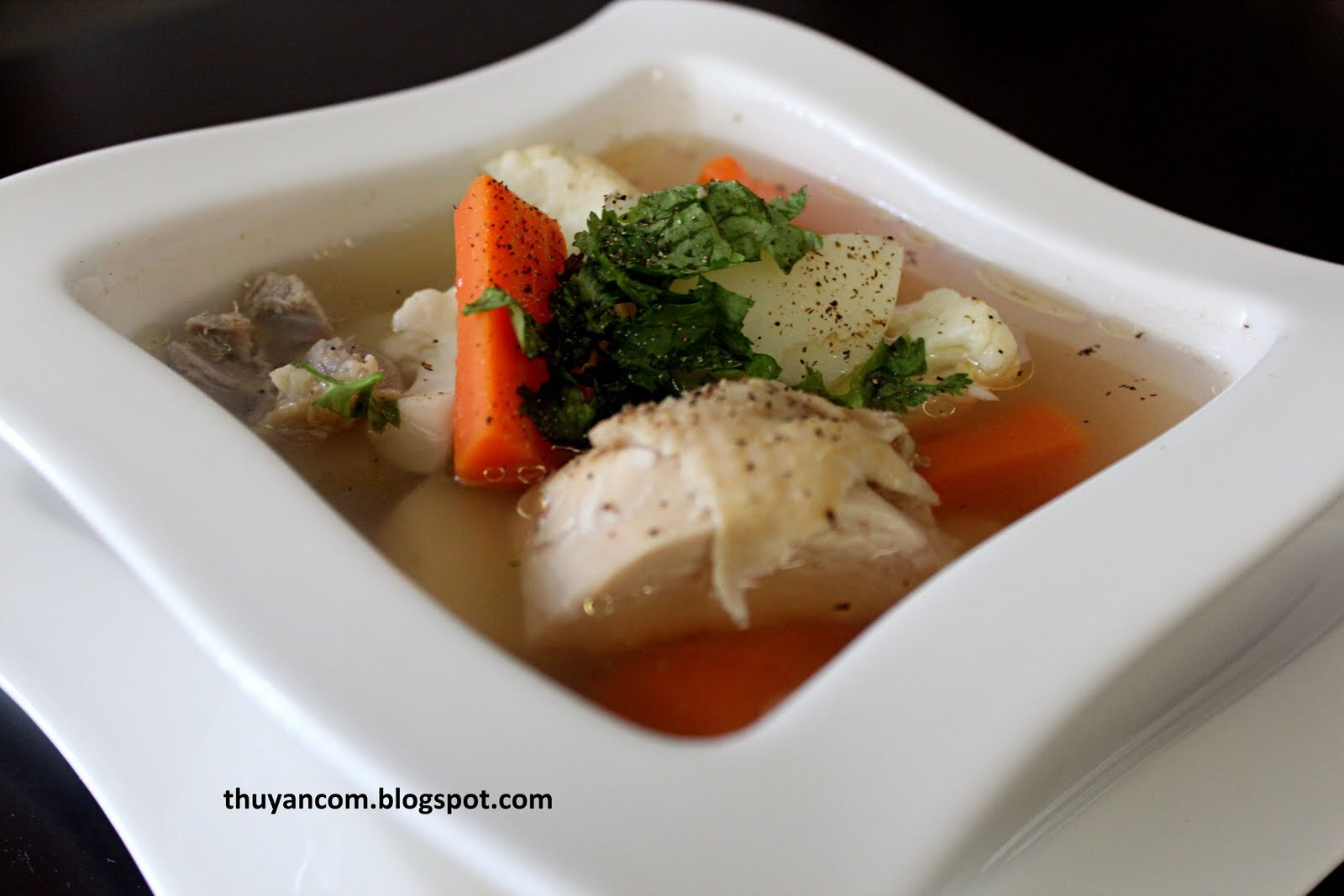 Thit Ga Ham Khoai Tay Ca Rot - Chicken Soup with Potatoes and Carrots