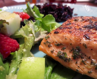 Pan Seared Rosemary-Ginger Steelhead Trout