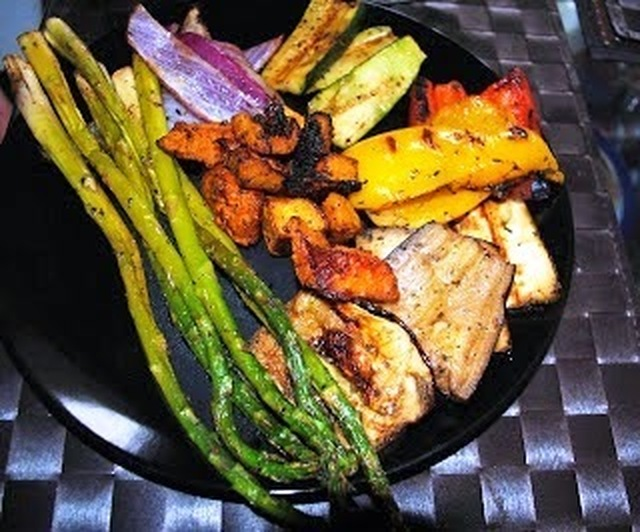 Grilled vegetables (simple marinade)