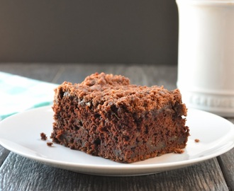 Chocolate Zucchini Coffeecake With Chocolate Crumb #SundaySupper