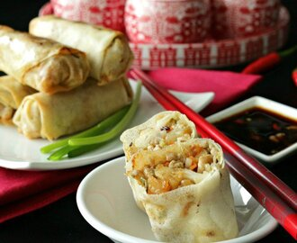 Baked Chinese Spring Rolls