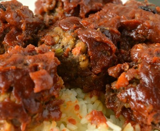 Brown Sugar Barbecue Meatballs #Foodieextravaganza