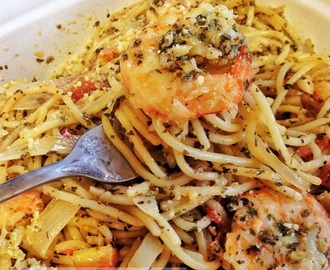 Scampi Shrimp with Pasta Recipe