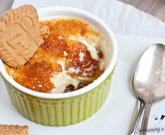 Cookie Butter Creme Brulee and The Secret to Perfect Crusted Sugar in Your Broiler!