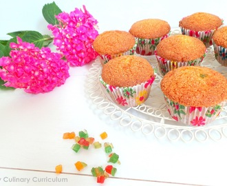 Muffins aux fruits confits (Muffins with candied fruit)
