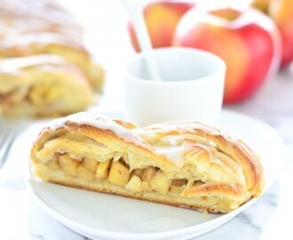 Glazed Cinnamon Apple Braided Bread