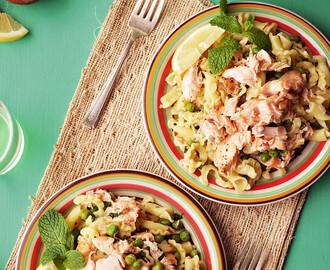 Salmon, Mint and Pea Pasta