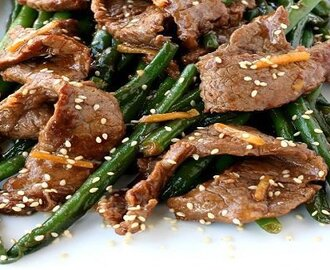 Ginger Beef And Green Bean Stir Fry Recipe