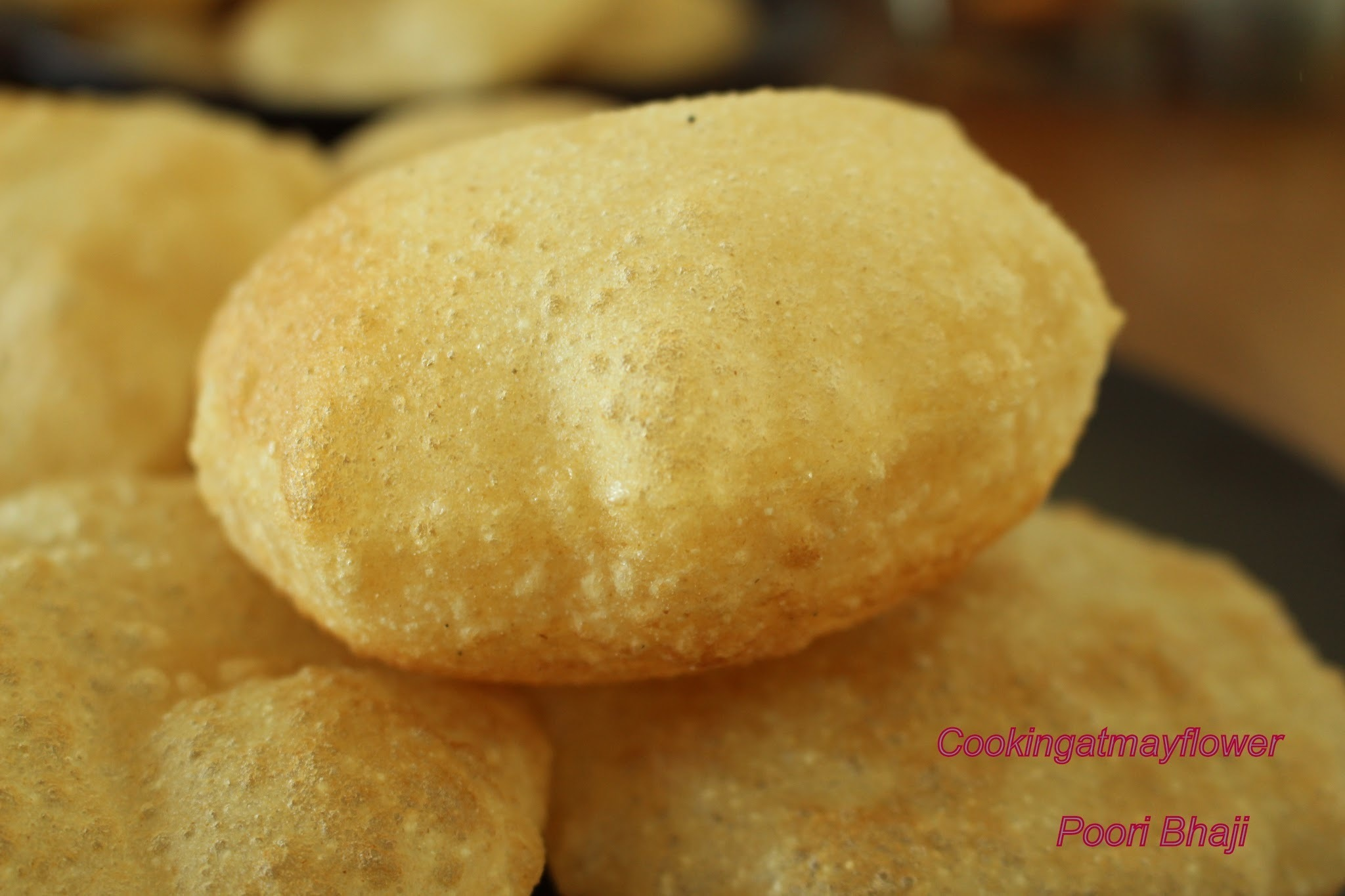 Poori / How to make fluffy and soft pooris