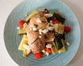 Greek Chicken with Tomato, Zucchini, and Artichokes