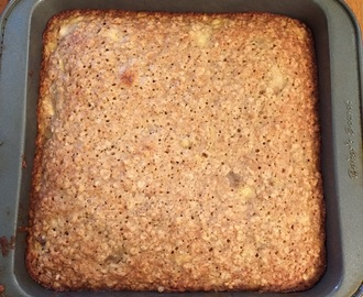 A Quicker and Healthier Snack Alternative – Banana-Oat Snack Cake