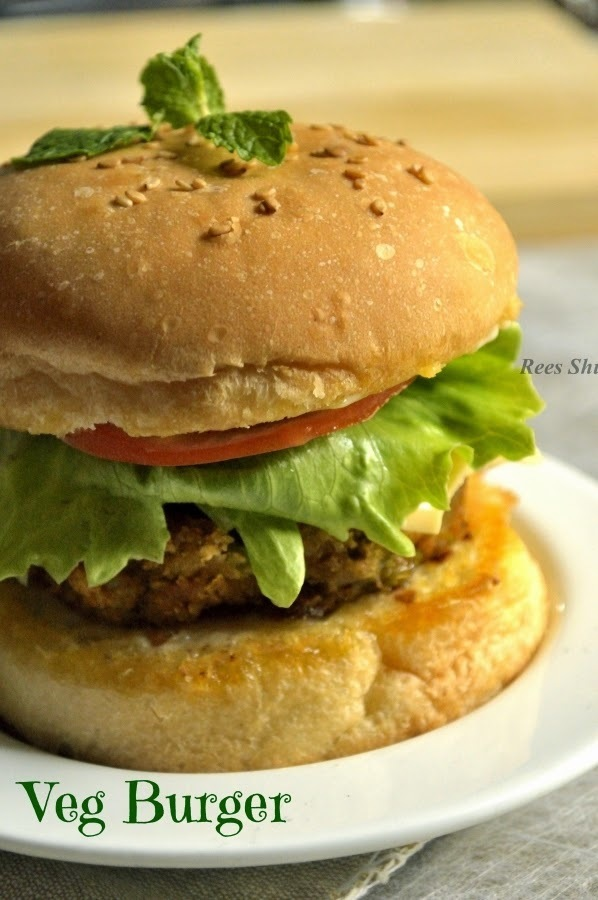 Veg Burger Recipe | Easy Snack Recipes