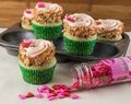 Green Tea Strawberry Coconut Cupcakes