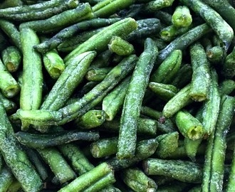 Oven Baked Crispy Green Beans....Healthy GF Snack!!