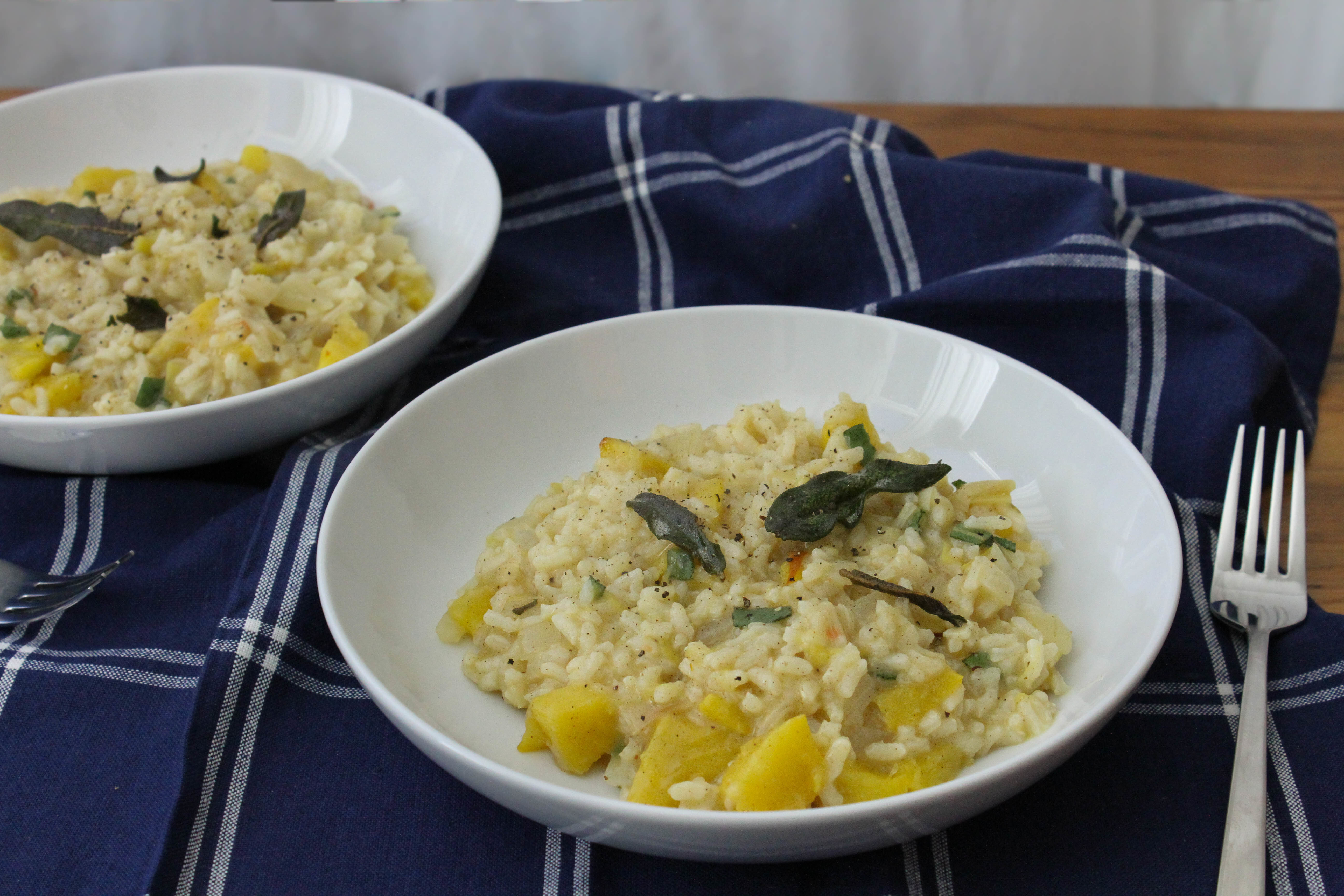 Pumpkin Risotto with Brown Butter Sage