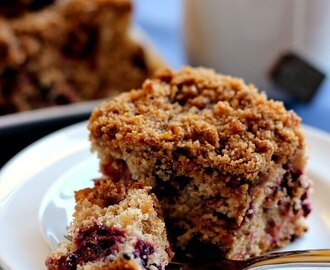 Mixed Berry Coffee Cake Made with Truvia