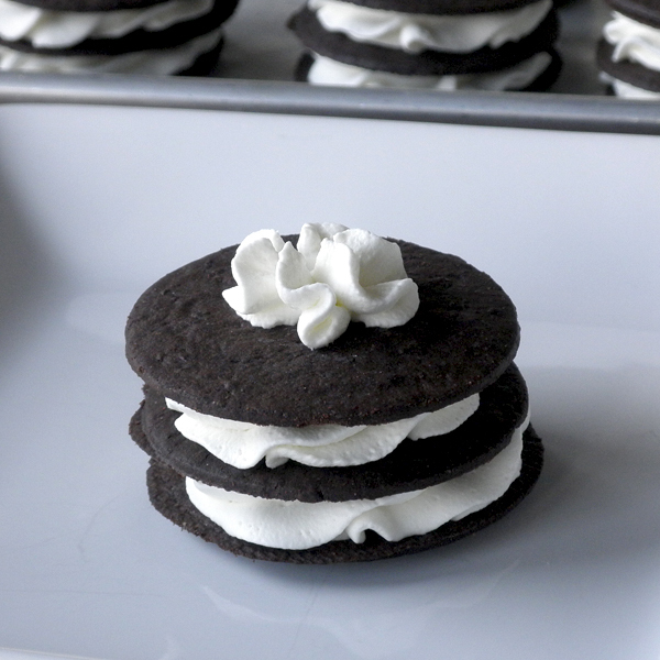 Chocolate Wafer & Whipped Cream Sandwiches
