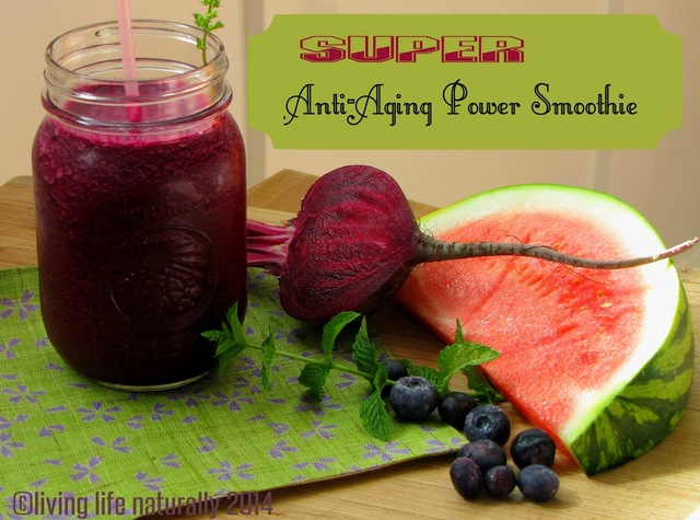Anti-Aging Beet and Blueberry Smoothie