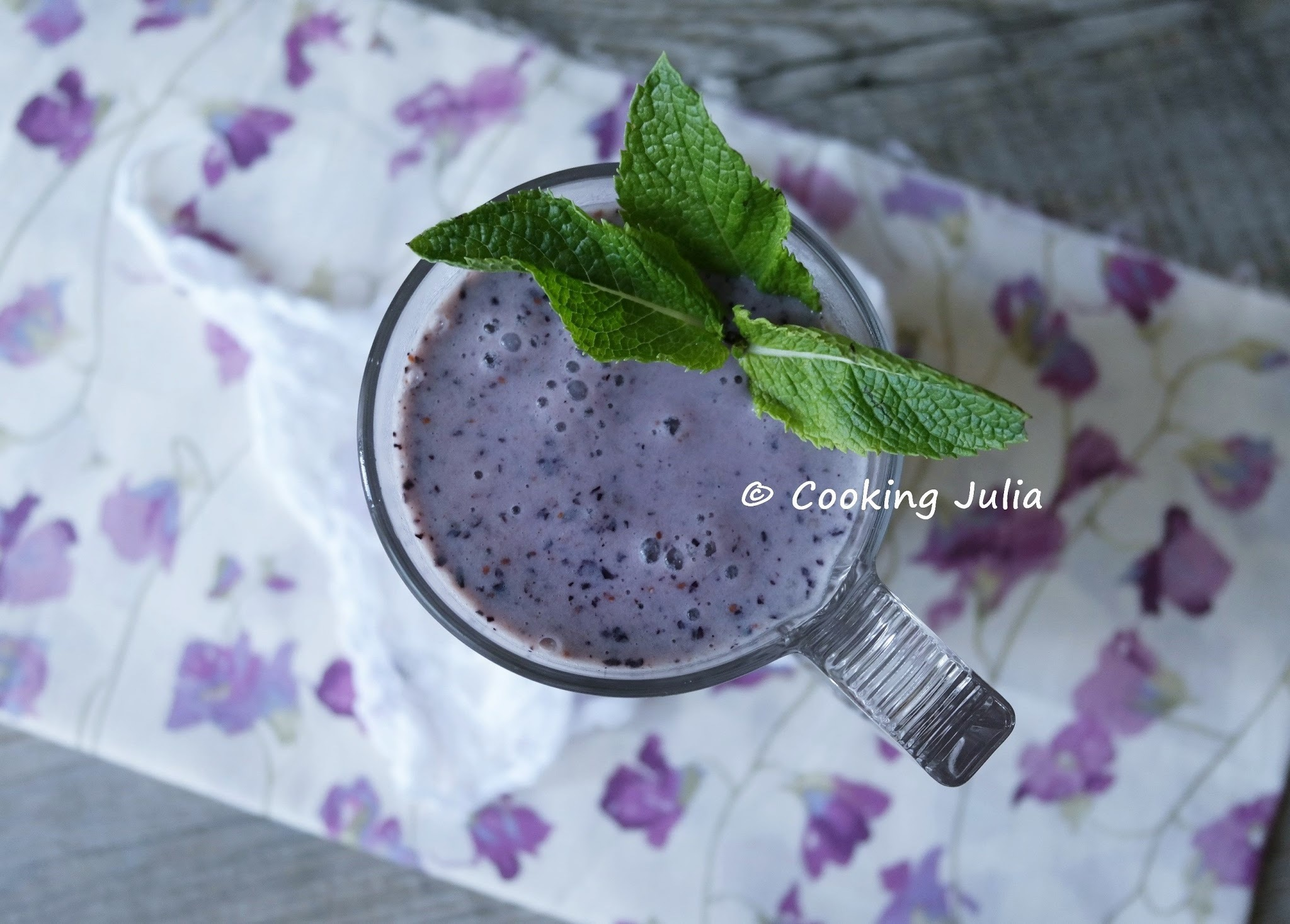 SMOOTHIE MYRTILLE-VANILLE