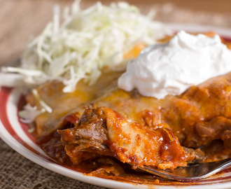 Slow Cooker Shredded Beef Enchiladas