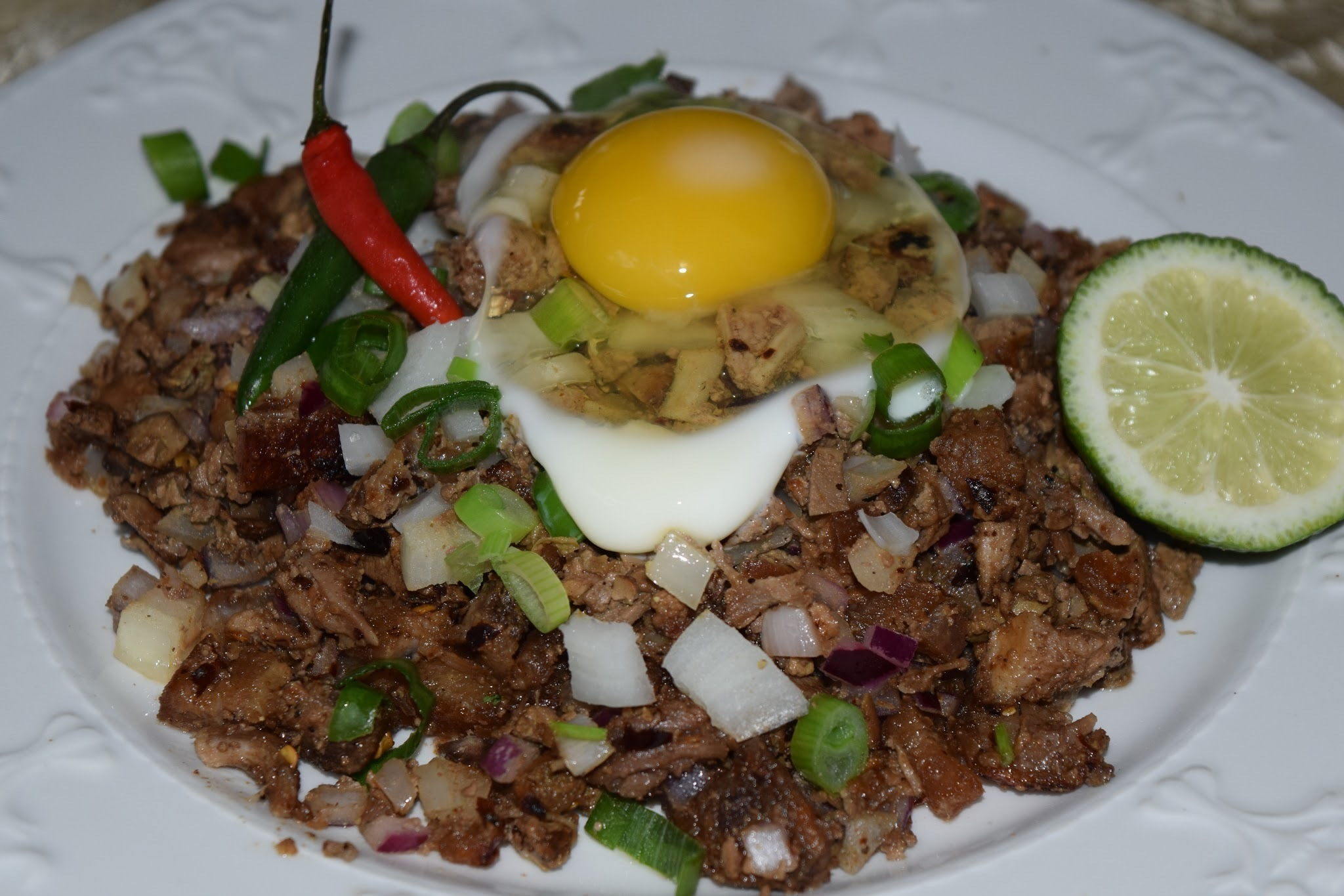 Pork Sisig (Sour and Spicy Chopped Pork Belly, Ears and Liver)