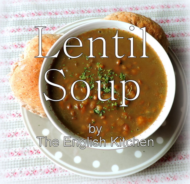 Lentil Soup and Falafel